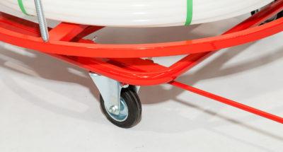 Rozwijak Nr 19 - mobilny do rur PERT, PEX, 200 - 600m. Ogrzewanie podłogowe.