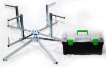 Rozwijak Nr 1A w skrzynce narzędziowej- składany do rur PERT, PEX, itp. Ogrzewanie podłogowe.