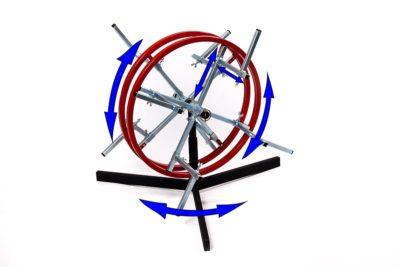Rozwijak Nr 15 - do kabli i przewodów - uniwersalny ,podwójny pionowy.
